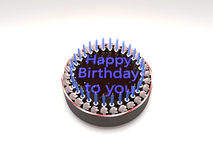 Birthday cake. 3D rendered illustration the  birthday cake Royalty Free Stock Images