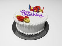 Birthday Cake. 3D rendered illustration the isolated birthday cake stock illustration