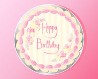 Birthday cake design Stock Photo