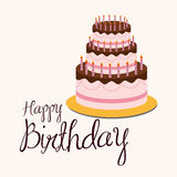 Birthday cake desserts Royalty Free Stock Images