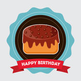 Birthday cake desserts Royalty Free Stock Photography