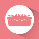 Birthday cake desserts Stock Image
