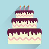 Birthday cake and desserts. Royalty Free Stock Image