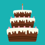 Birthday cake and desserts. Royalty Free Stock Photo