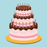 Birthday cake and desserts. Royalty Free Stock Photos