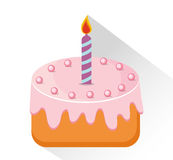 Birthday cake and desserts. Birthday cake and desserts icon design, vector illustration Stock Images
