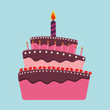 Birthday cake and desserts. Royalty Free Stock Images