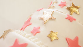 Birthday Cake Details Royalty Free Stock Images