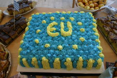 Birthday cake of EU Stock Images