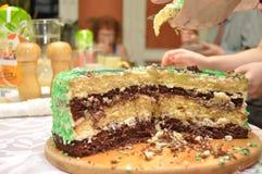 Birthday cake. Family gathering, celebration. Stock Images