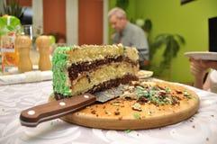 Birthday cake. Family gathering, celebration. Stock Photography