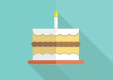 Birthday cake. Flat modern design Royalty Free Stock Photography