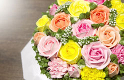 Birthday cake with flowers Stock Images