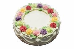 Birthday cake with flowers Stock Photo