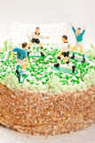 Birthday Cake For Boy With Football Players Stock Image