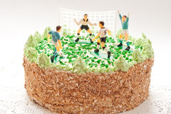 Birthday Cake For Boy With Football Players Royalty Free Stock Photography