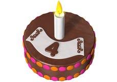 Birthday cake four Stock Photography