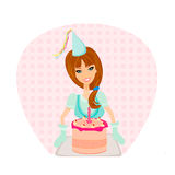 Birthday Cake Girl Royalty Free Stock Photo