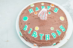 Birthday Cake. Happy birthday chocolate cake. Yum royalty free stock photos