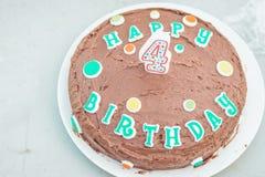 Birthday Cake. Happy birthday chocolate cake. Yum Royalty Free Stock Photos