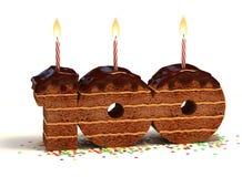 Birthday cake hundredth birthday or anniversary Royalty Free Stock Photos