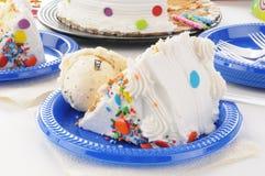 Birthday cake and ice cream Stock Photo
