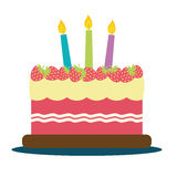 Birthday cake icon Stock Photos