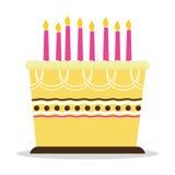 Birthday cake icon Royalty Free Stock Photography