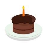 Birthday cake icon Stock Images