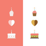 Birthday Cake Icon Stock Image