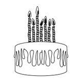 Birthday cake icon image. Vector illustration design Stock Photo