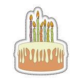 Birthday cake icon image. Vector illustration design Stock Photos