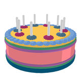 Birthday Cake Illustration Royalty Free Stock Images