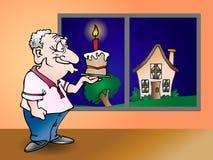 Birthday cake illustration Royalty Free Stock Photography