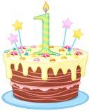 Birthday Cake. Illustration of decorated birthday cake royalty free illustration