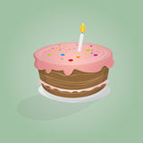 Birthday cake illustration Stock Images