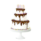 Birthday Cake Illustration Stock Photography