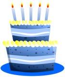 Stylized Birthday cake isolated royalty free stock photo