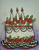 Birthday cake illustration stock illustration