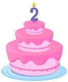 A birthday cake Stock Image