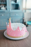 Birthday Cake In The Shape Of A Crown Royalty Free Stock Photo