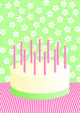 Birthday Cake Invitation Card Stock Photo