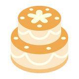Birthday cake isometric 3d icon Royalty Free Stock Photo