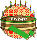Birthday Cake label Royalty Free Stock Photo