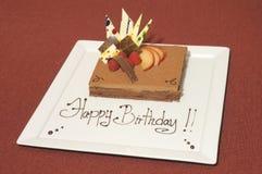 Birthday cake mousse Royalty Free Stock Photography
