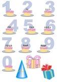birthday cake number set Στοκ φωτογραφία με δικαίωμα ελεύθερης χρήσης