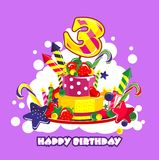 Birthday cake number Royalty Free Stock Images