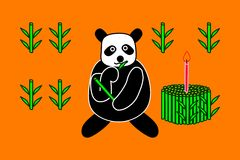 Birthday cake of panda Royalty Free Stock Image