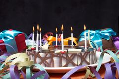 Birthday cake party Royalty Free Stock Photo