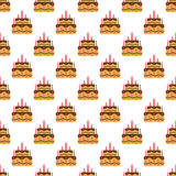 Birthday cake pattern seamless Royalty Free Stock Photography